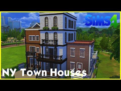 Sims 4 Speedbuild: ★ New York Town Houses ★
