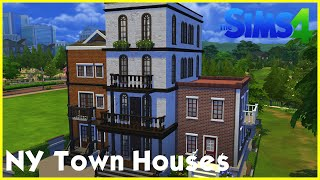 Sims 4 Speedbuild: ★ New York Town Houses ★