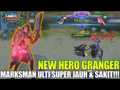 NEW HERO GRANGER - MARKSMAN DENGAN DAMAGE SUPER PEDAS !!! DAN ULTI YANG SANGAT JAUH ! MOBILE LEGENDS
