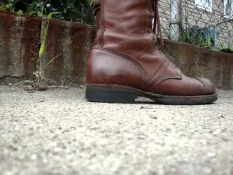 5d8d90e4c9e Corcoran leather Jump Boots/ Paratrooper Boots - YouTube