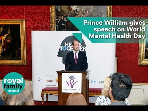 Prince William gives speech to celebrate World Mental Health Day