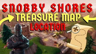 FORTNITE: Snobby Shores Treasure Map Location (Battle Pass Season 3 Challenges)