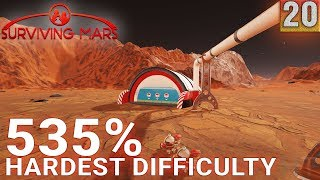 Surviving Mars 535% HARDEST DIFFICULTY - Part 20 - RESOURCE CRISIS! - Gameplay (1440p)