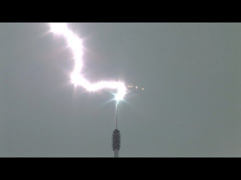 Lightning DIRECT HITS!  Towers and Antennas Compilation