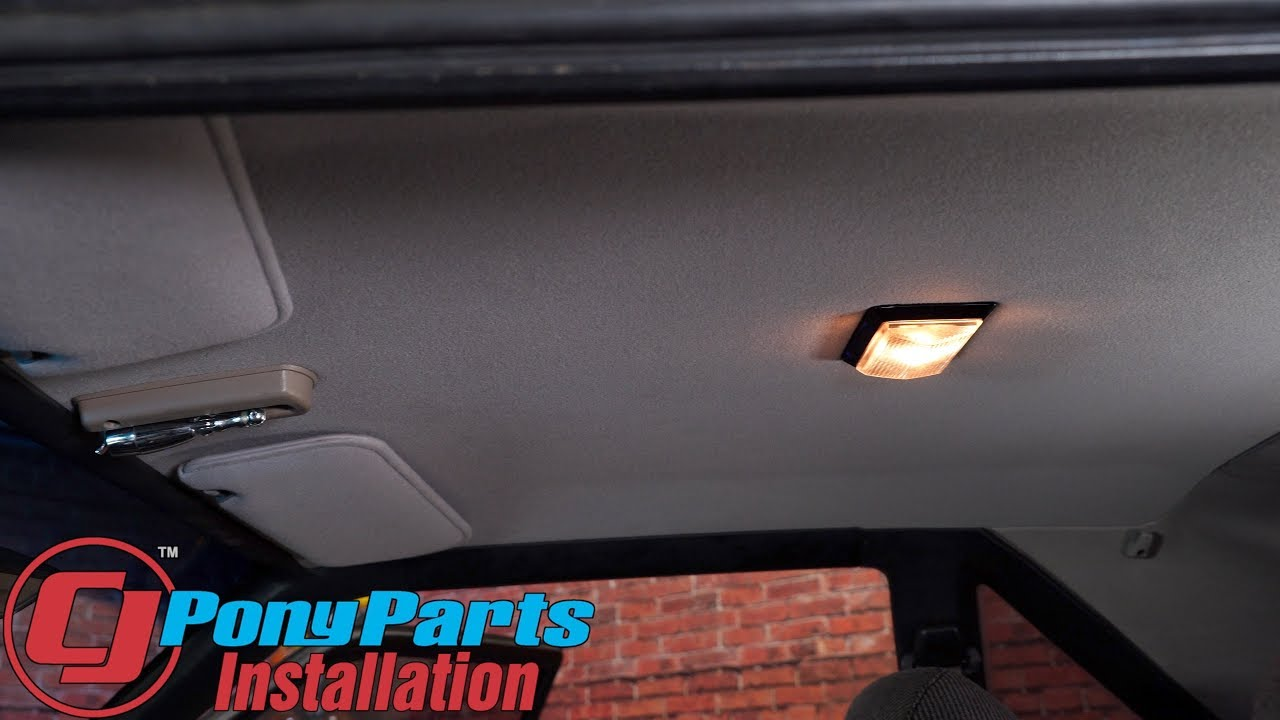 Mustang TMI Headliner With ABS Back Board 1987-1993 Hatchback Installation