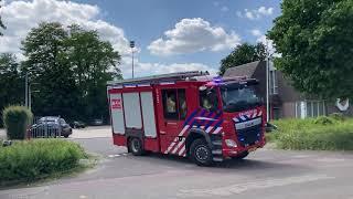 Brandweer  Deurne  rukt uit naar stal brand