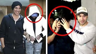 Varun Dhawan Makes FUN Of Akshay Kumar's Son Aarav Hiding Face From Media At Same Place