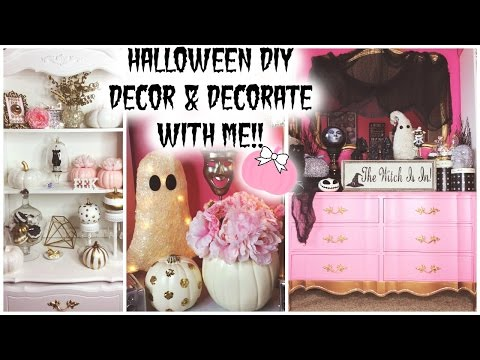 HALLOWEEN DIY DECOR & DECORATE WITH ME! ♡