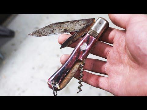 Restoring rusty vintage pocket knife - Knife restoration