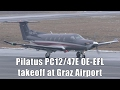 Theophil Services GmbH Pilatus PC-12/47E takeoff at Graz Airport | OE-EFL