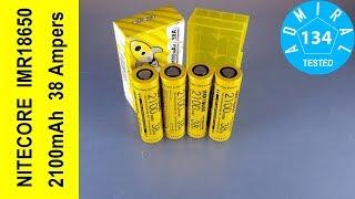 Nitecore IMR18650 2100mAh 38A обзор аккумулятора