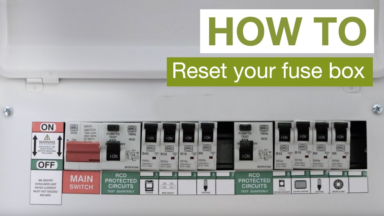 HOW TO: Reset your fuse box - YouTubeYouTube