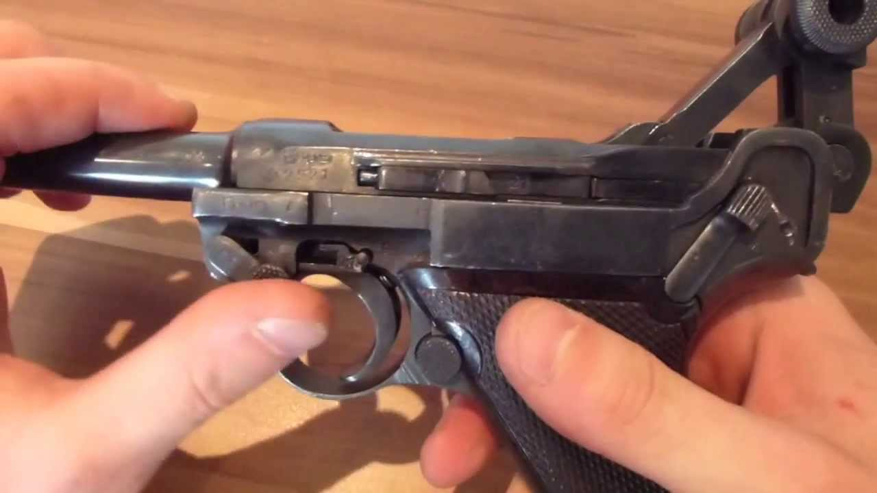 ww1 1918 luger p08 9mm parabellum pistol full reassembly (Deactivated)