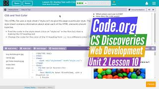 Styling with CSS - Lesson 10.4 - Web Development Code.org CS Discoveries
