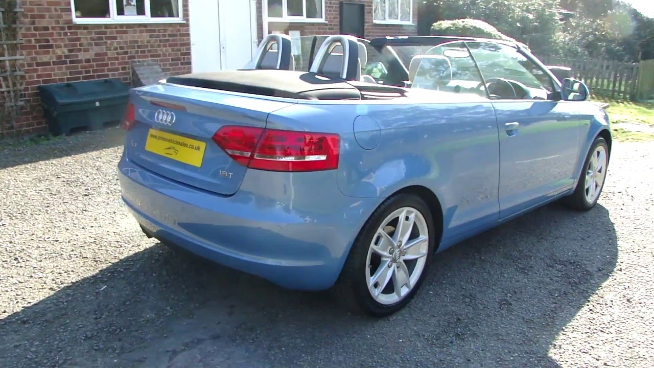 audi a3 cabriolet 1 8 tfsi sport 2dr 2009 for sale youtube. Black Bedroom Furniture Sets. Home Design Ideas