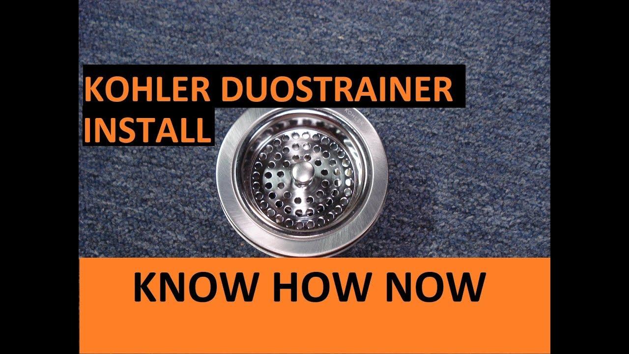 install a kohler duostrainer kitchen sink strainer