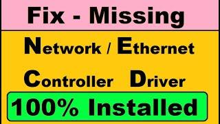 (Solution) Network Controller/Ethernet controller  driver