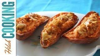 Twice Baked Sweet Potatoes | Easy Thanksgiving Recipe