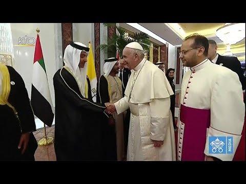 Accueil du pape François aux Emirats Arabes Unis