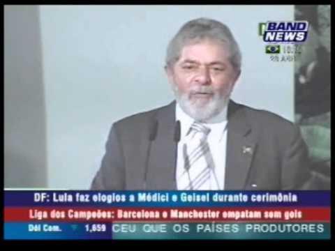 Regime Militar - Lula faz elogios a Médici e Geisel durante cerimônia