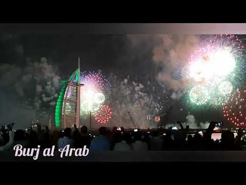 Dubai burj al arab fireworks 2020 | New year fireworks | burj al arab celebrate new year 2020