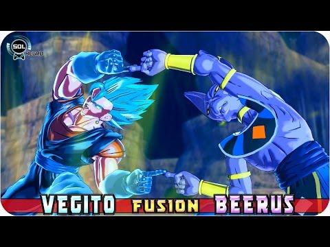 Vegito and Beerus (Bills) Fusion: Vegitorus VS Merged Zamasu - Dragon Ball Xenoverse 2