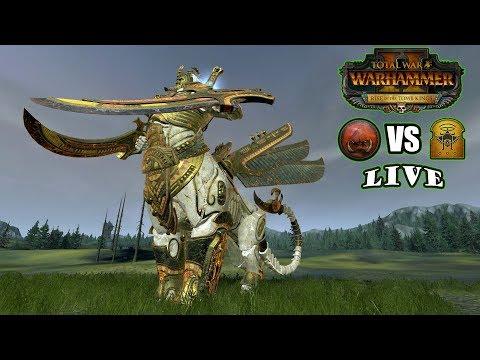 Necrosphinx Gone Wild (1v1) Greenskin Vs Followers Of Nagash - Total War:Warhammer II Battlecast #58