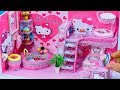 DIY Miniature Dollhouse Bathroom and Bedroom ~ Hello Kitty Room Decor #26