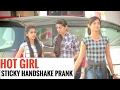 Hot Girl Sticky Handshake Prank   Few Moments   Pranks in India