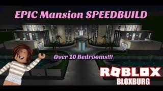 (READ DESCRIPTION) HUGE Mansion Speedbuild!!! - Bloxburg - Roblox