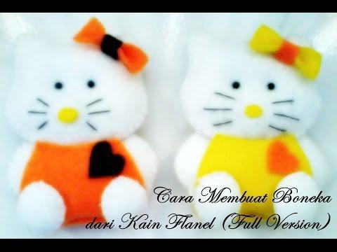 Video Tutorial Membuat Boneka Hello Kitty Dari kain Flanel