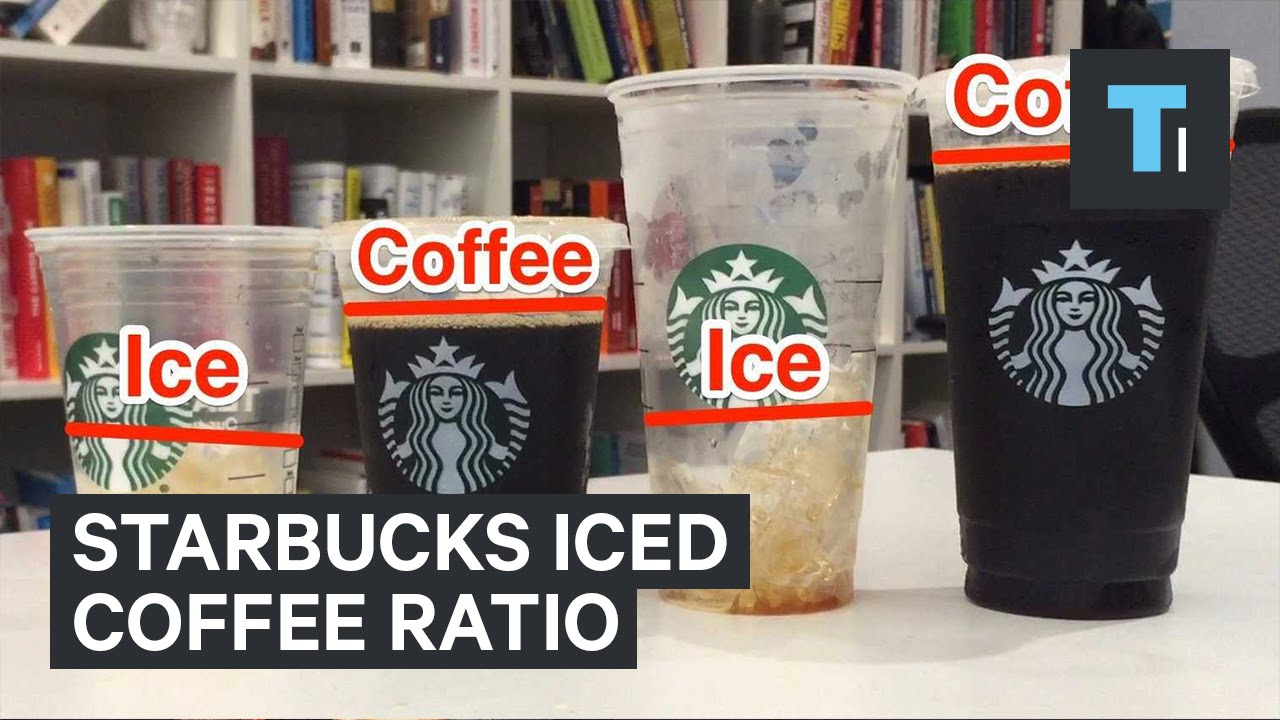Starbucks Ice To Coffee Ratio