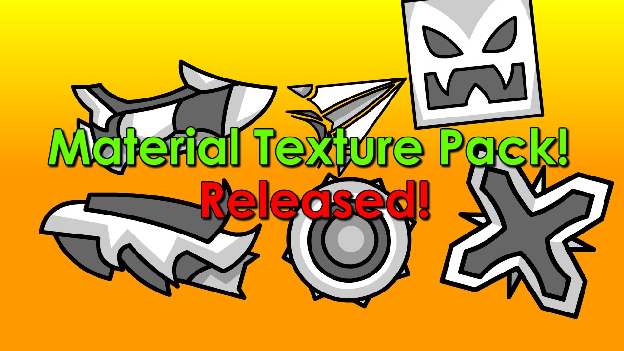 Geometry dash material texture pack released youtube