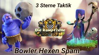 Bowler Hexen Spam 3 Sterne Kämpfe RH 11 | Clash of Clans Deutschland CoC