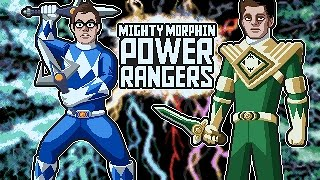 mighty morphin power rangers snes james mike mondays