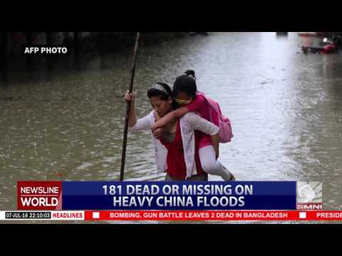 181 dead or missing on heavy China floods