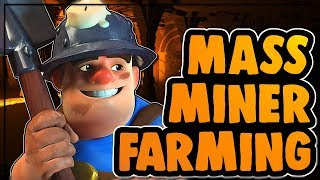 MASS MINER FARMING AT TH10 and TH11| BEST DARK FARMING STRATEGY | Clash of Clans