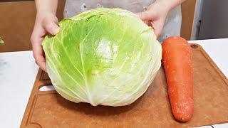素食家常菜料理│高麗菜和紅蘿蔔別再混著一起炒,不煎不炸,好吃到一口接一口停不下來,連湯汁一滴都不剩│Vegan Recipe │EP157