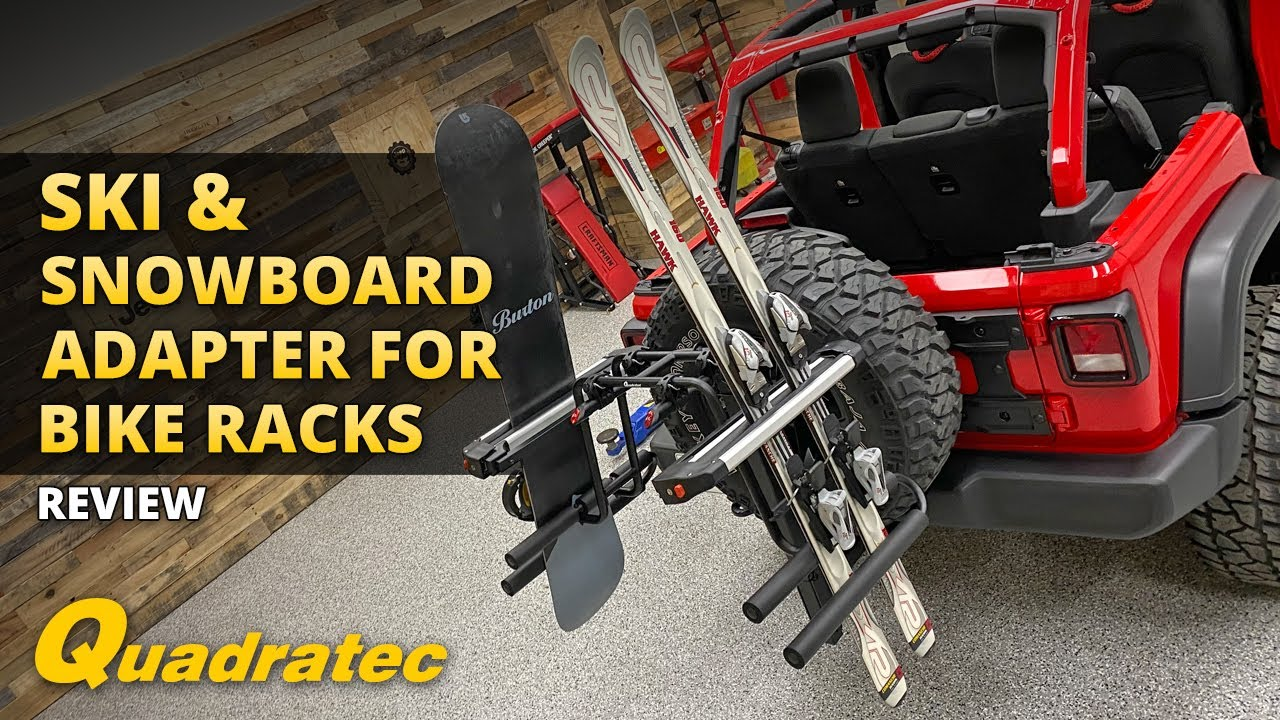 quadratec ski snowboard adapter for bike racks review and install for jeep vehicles