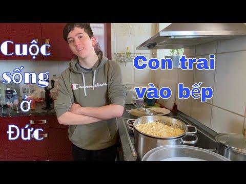 Thanh niên học nấu ăn | cách làm mì tươi đơn giản | Gia đình Việt-Đức | cuộc sống ở Đức