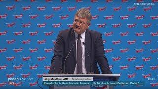 AfD-Parteitag: Rede von Jörg Meuthen am 30.06.2018