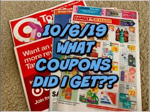 10/6/19 WHAT COUPONS DID I GET? | TARGET AD PREVIEW 👀