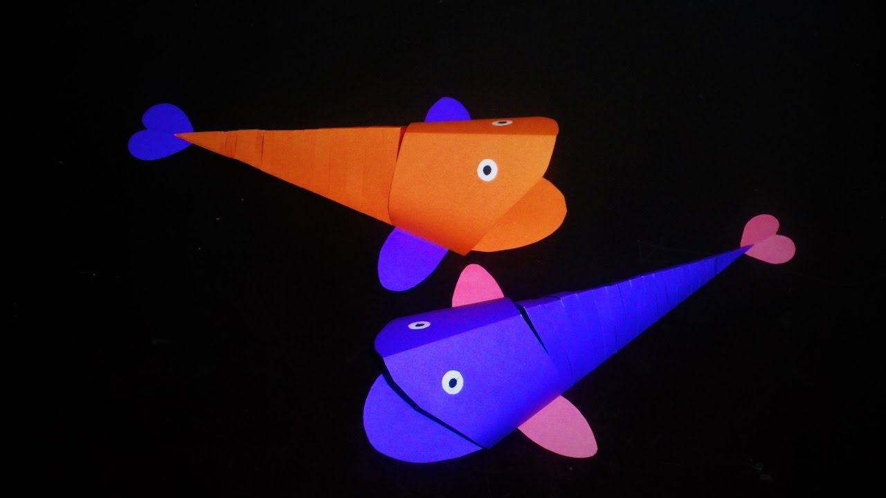 How to Make Moving Fish With Paper - YouTube