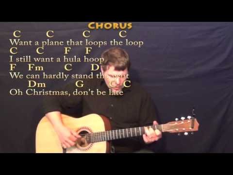 Christmas Don't Be Late - Fingerstyle Guitar Cover Lesson in C with Chords/Lyrics