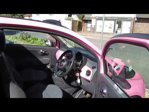 Fiat 500 convertible pink for sale Vantage Cars Barnham PO22 0ER