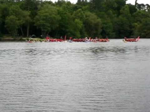 CGGVeritas winning the dragonboat race