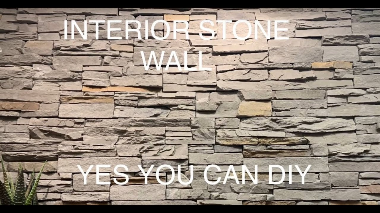 Interior Stone Wall Diy How To Install Faux On