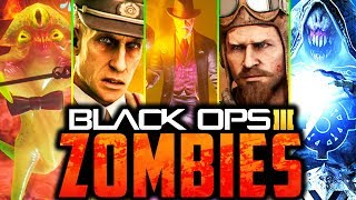 ALL BLACK OPS 3 ZOMBIES EASTER EGGS!! [SPEEDRUN] (Call of Duty: Black Ops 3 Zombies)