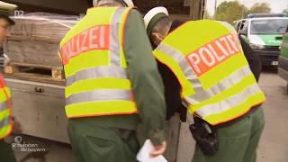 Mit der Augsburger Polizei auf LKW Kontrolle