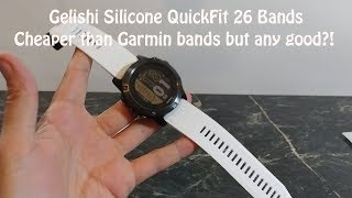 Garmin Fenix Silicone QuickFit 26 Bands for Garmin Fenix 3 HR 5X  : Cheap but any good?